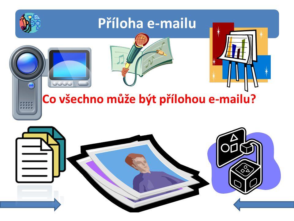 Příloha e-mailu Co všechno může být přílohou e-mailu?