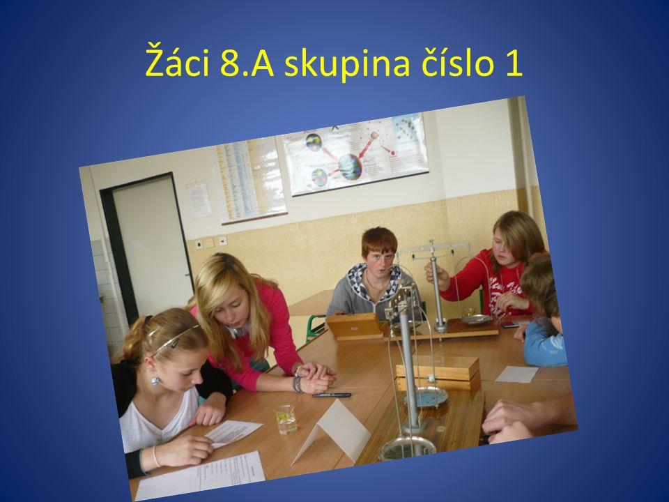 Žáci 8.A skupina číslo 1