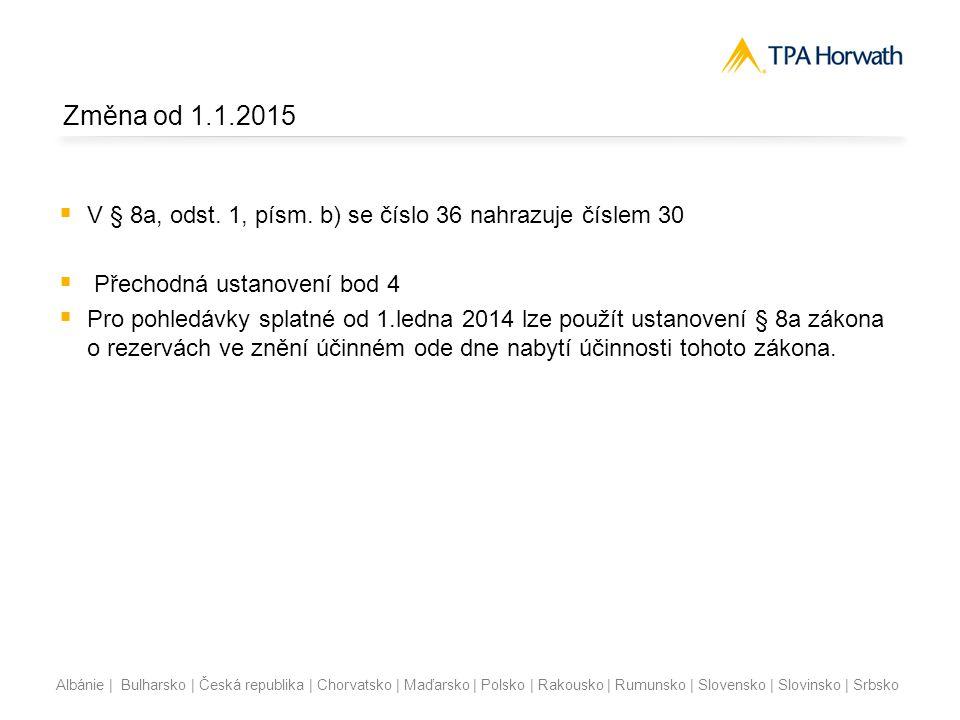 Albánie | Bulharsko | Česká republika | Chorvatsko | Maďarsko | Polsko | Rakousko | Rumunsko | Slovensko | Slovinsko | Srbsko Rozdělení pohledávek z hlediska okamžiku jejich vzniku 2013 Do 30 tis.