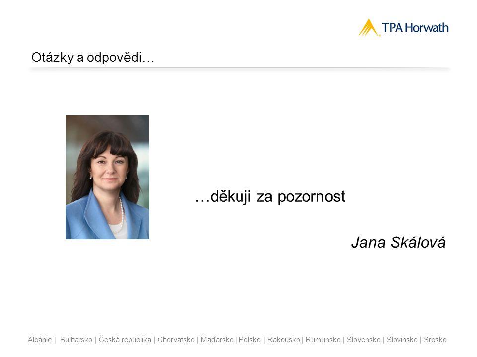 Albánie | Bulharsko | Česká republika | Chorvatsko | Maďarsko | Polsko | Rakousko | Rumunsko | Slovensko | Slovinsko | Srbsko Otázky a odpovědi… …děkuji za pozornost Jana Skálová