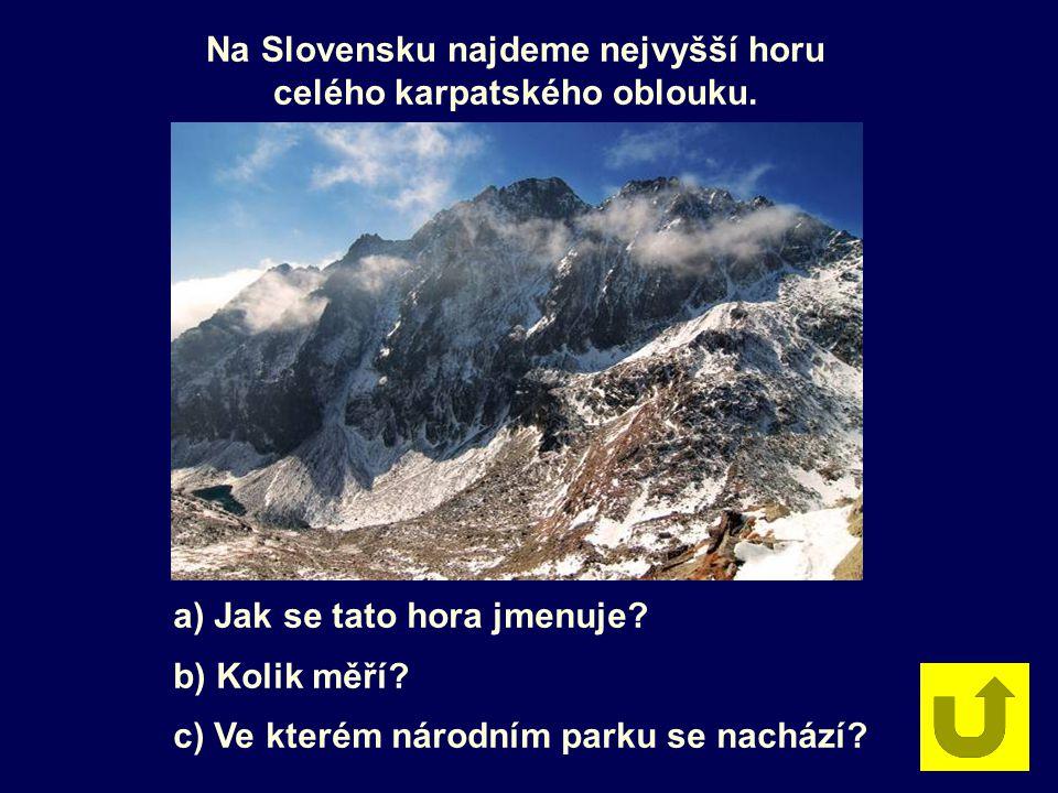Na Slovensku najdeme nejvyšší horu celého karpatského oblouku. a) Jak se tato hora jmenuje? b) Kolik měří? c) Ve kterém národním parku se nachází?