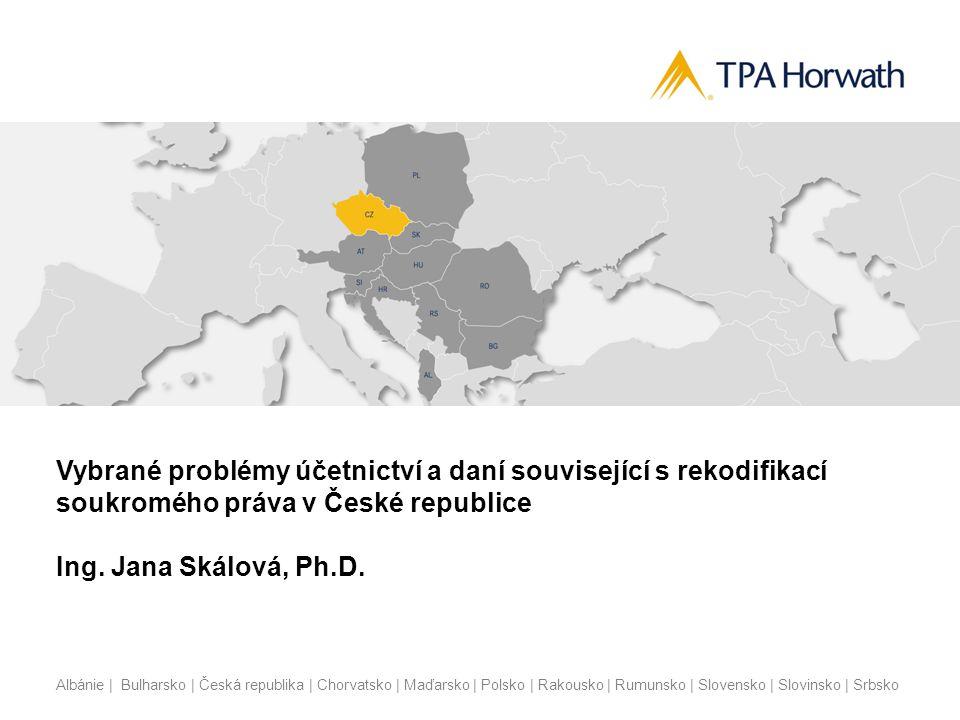 Albánie | Bulharsko | Česká republika | Chorvatsko | Maďarsko | Polsko | Rakousko | Rumunsko | Slovensko | Slovinsko | Srbsko Účetní řešení u příjemce  Není upraveno účetními předpisy  Pokud budeme respektovat zobrazení této transakce u vyplácející právnické osoby jako snížení vlastního kapitálu, pak příjemce by měl účtovat do výnosů (tedy jako zvýšení jeho vlastního kapitálu)  Přijetí je možno účtovat do finančních výnosů