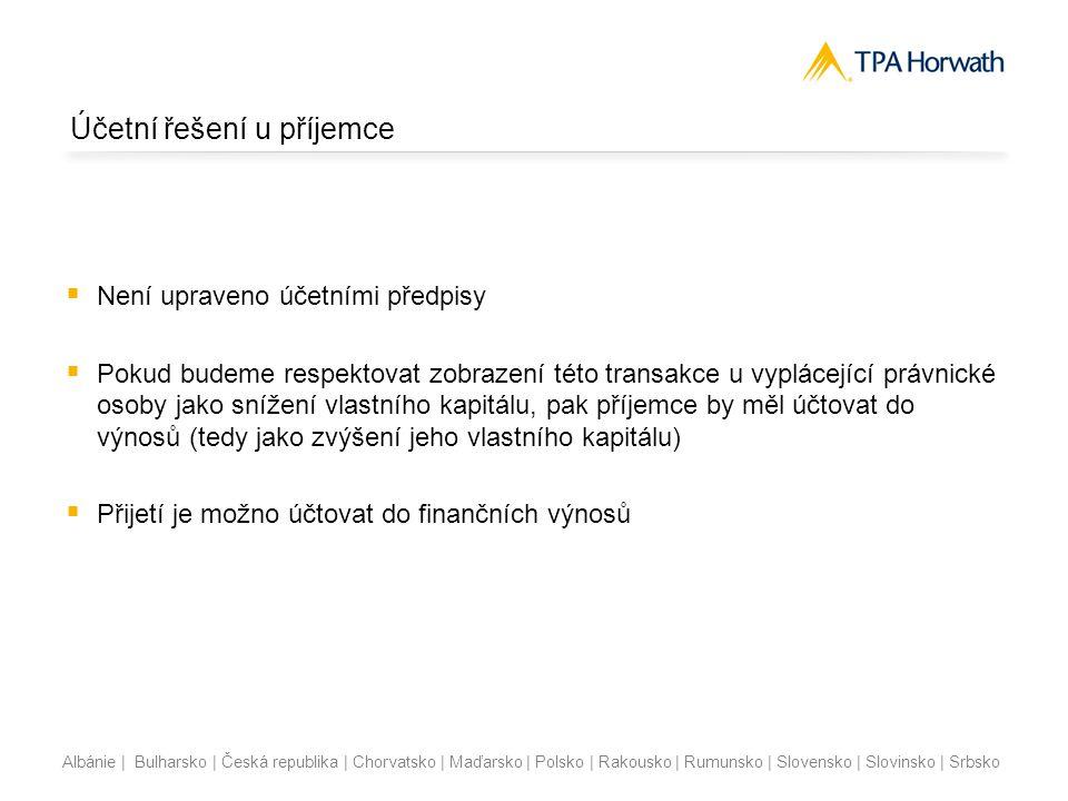 Albánie | Bulharsko | Česká republika | Chorvatsko | Maďarsko | Polsko | Rakousko | Rumunsko | Slovensko | Slovinsko | Srbsko Účetní řešení u příjemce