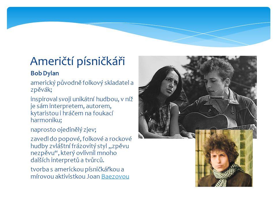 """Paul Simon americký skladatel - písničkář, slavnější z folkrockové dvojice Simon and Garfunkel jeden z mluvčích své generace tvůrce mistrovských folkových skladeb vynikající kytarista, interpret řada desek – první Zvuky ticha vrchol – album """"Bridge Over Troubled Water rozchod – Garfunkel chtěl hrát ve filmech (Hlava 22) Američtí písničkáři"""