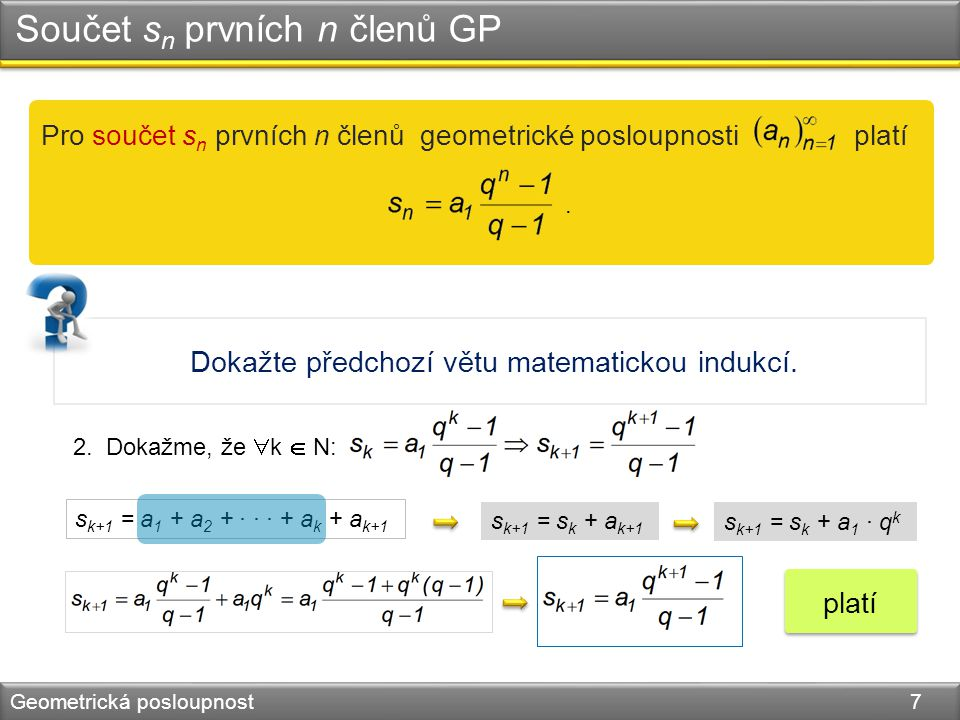 Dokažte předchozí větu matematickou indukcí. 2.