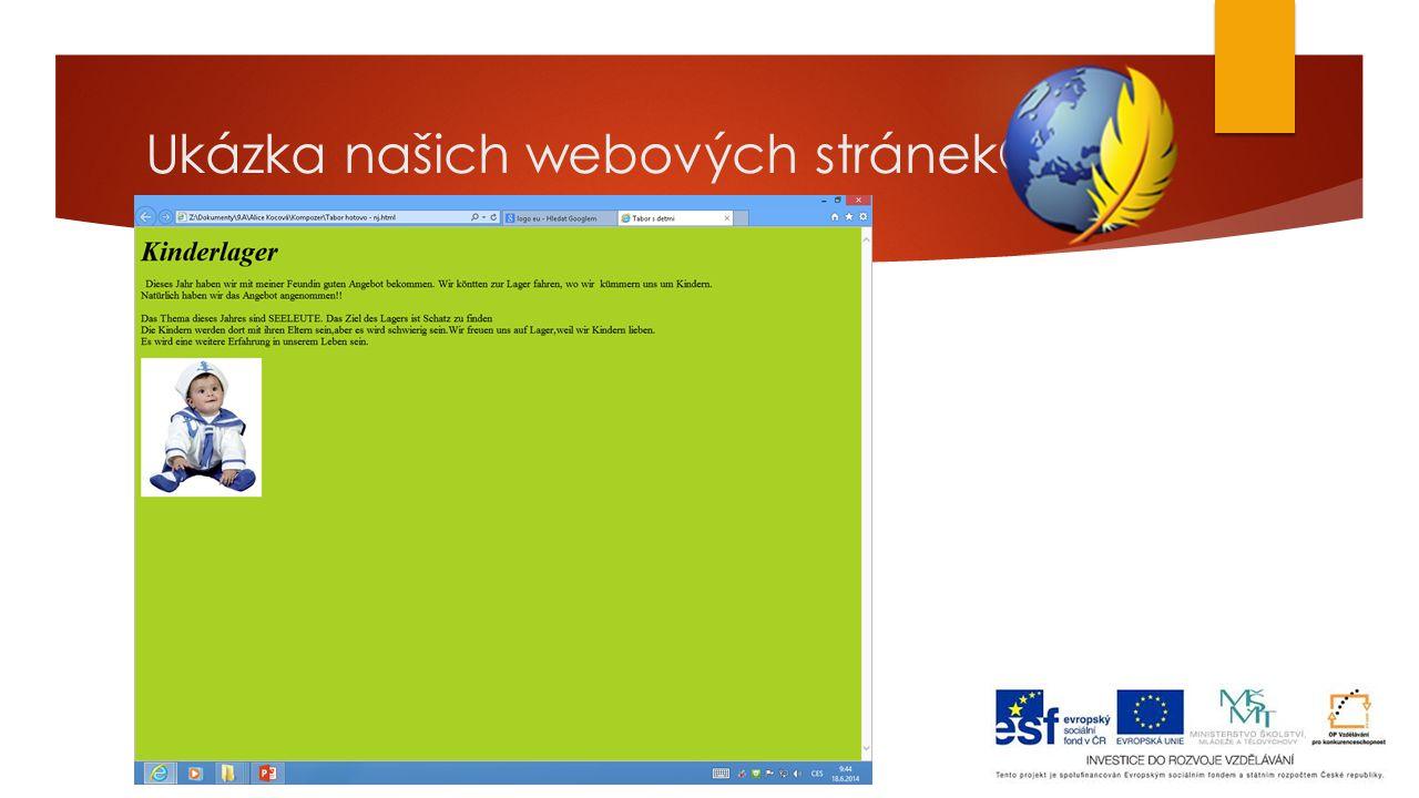 Ukázka našich webových stránek