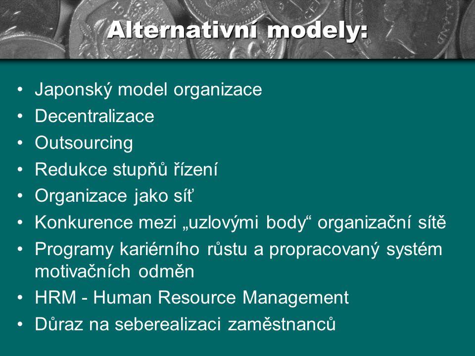 Současnost & budoucnost....Dnešní analýza organizací – sociologové např.