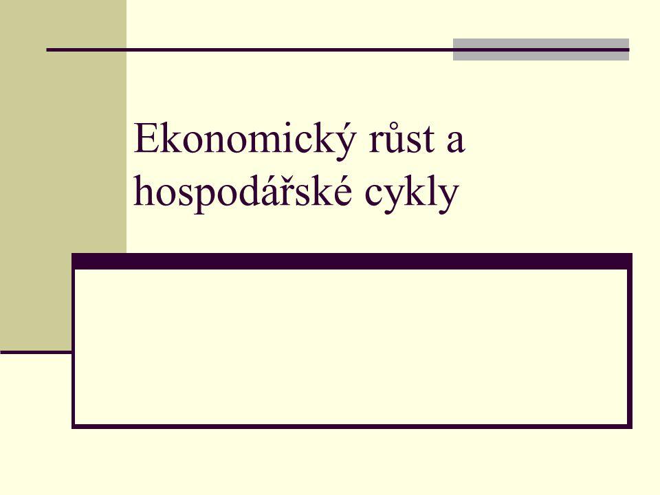 Ekonomický růst a hospodářské cykly