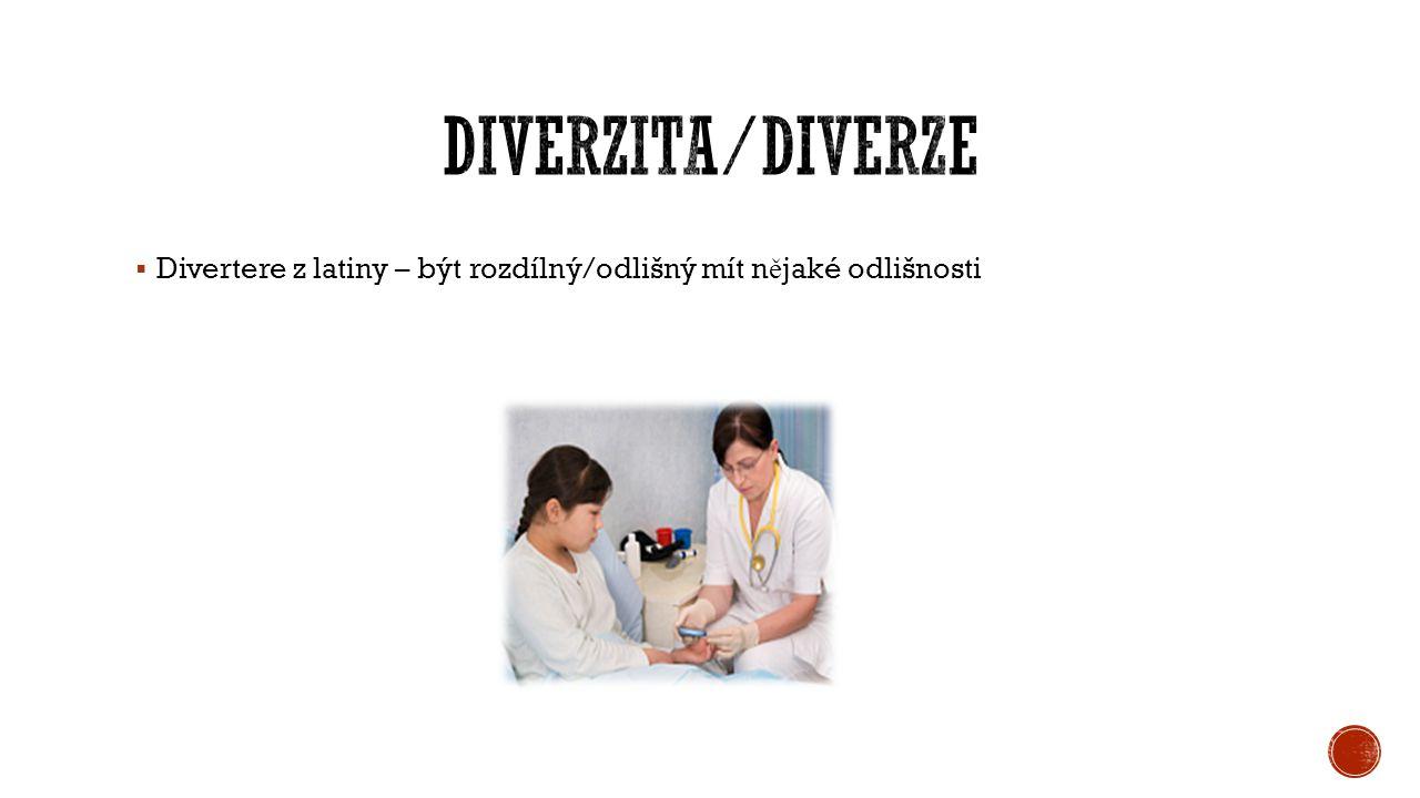 Divertere z latiny – být rozdílný/odlišný mít n ě jaké odlišnosti