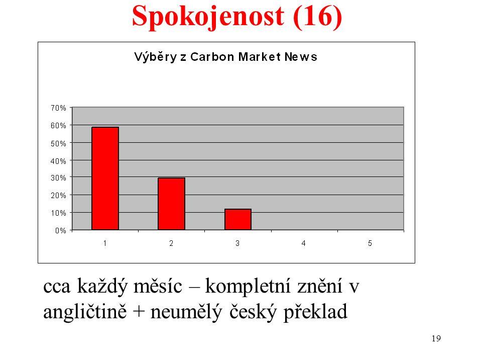 19 Spokojenost (16) cca každý měsíc – kompletní znění v angličtině + neumělý český překlad