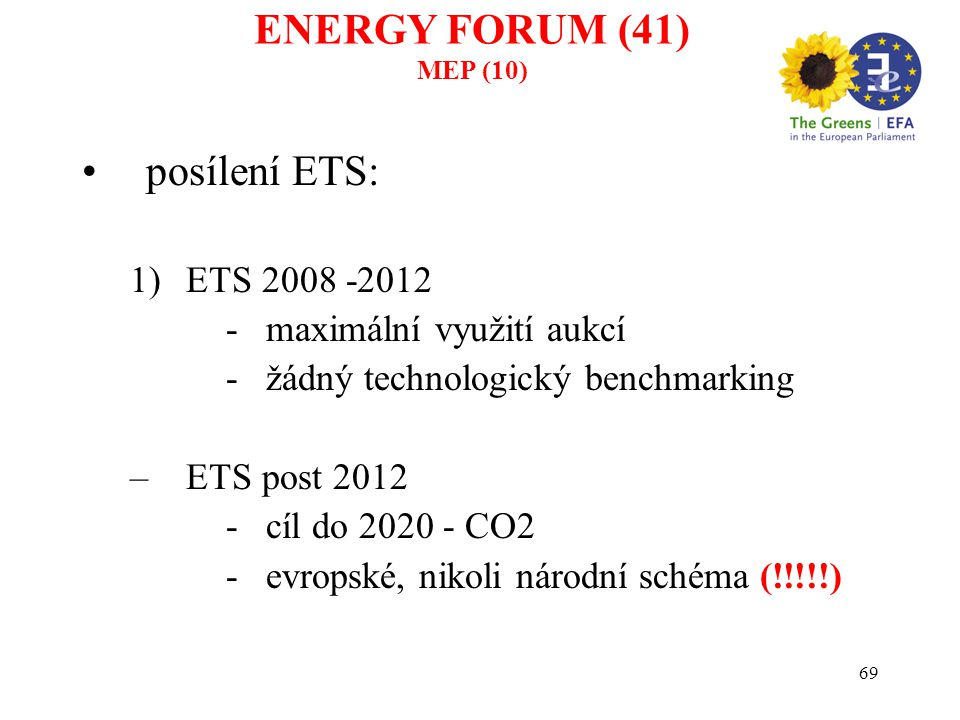70 Recent Emission Trends Global ENERGY FORUM (42) MEP (11)