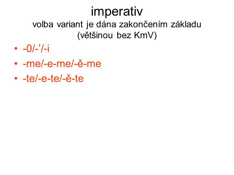 infinitiv volba variant je dána třídou + vzorem, dublety jsou rozlišeny stylisticky -t/-ti | -i/-t