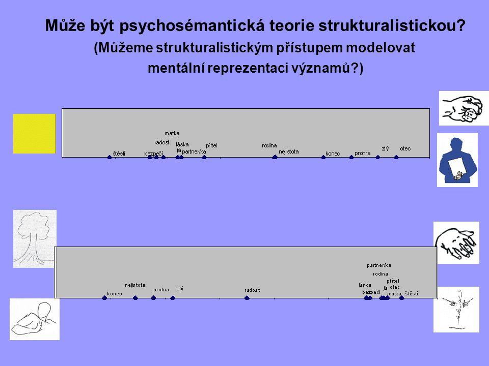 Může být psychosémantická teorie strukturalistickou? (Můžeme strukturalistickým přístupem modelovat mentální reprezentaci významů?)