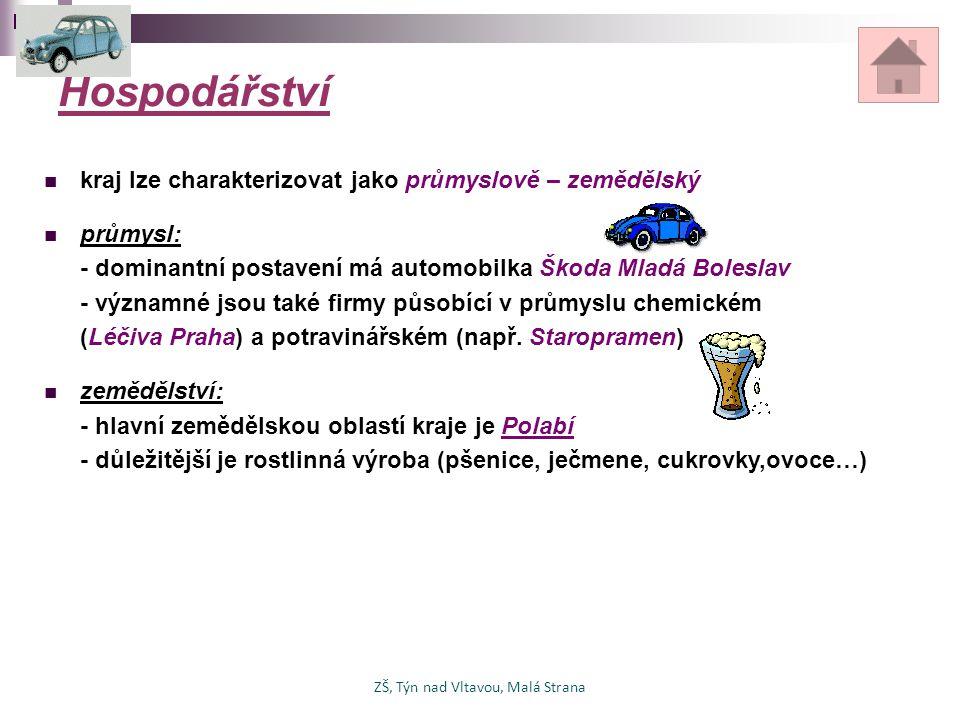 Hospodářství kraj lze charakterizovat jako průmyslově – zemědělský průmysl: - dominantní postavení má automobilka Škoda Mladá Boleslav - významné jsou