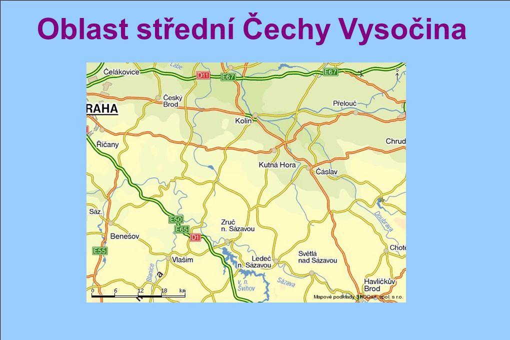 Oblast střední Čechy Vysočina
