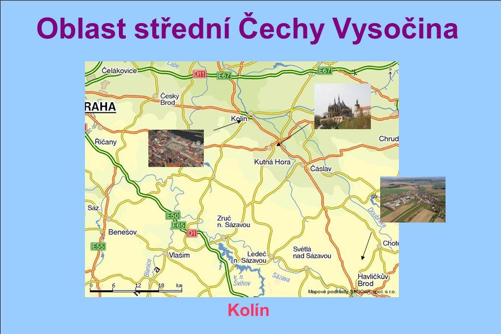 Oblast střední Čechy Vysočina Horní Krupá