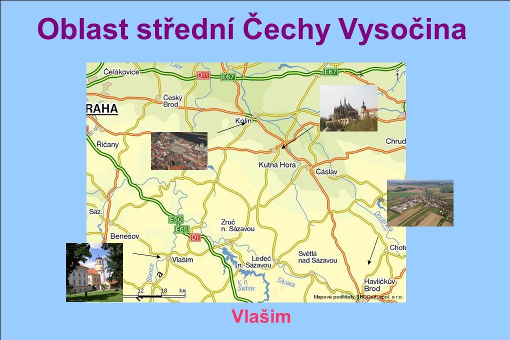 Oblast střední Čechy Vysočina Kolín