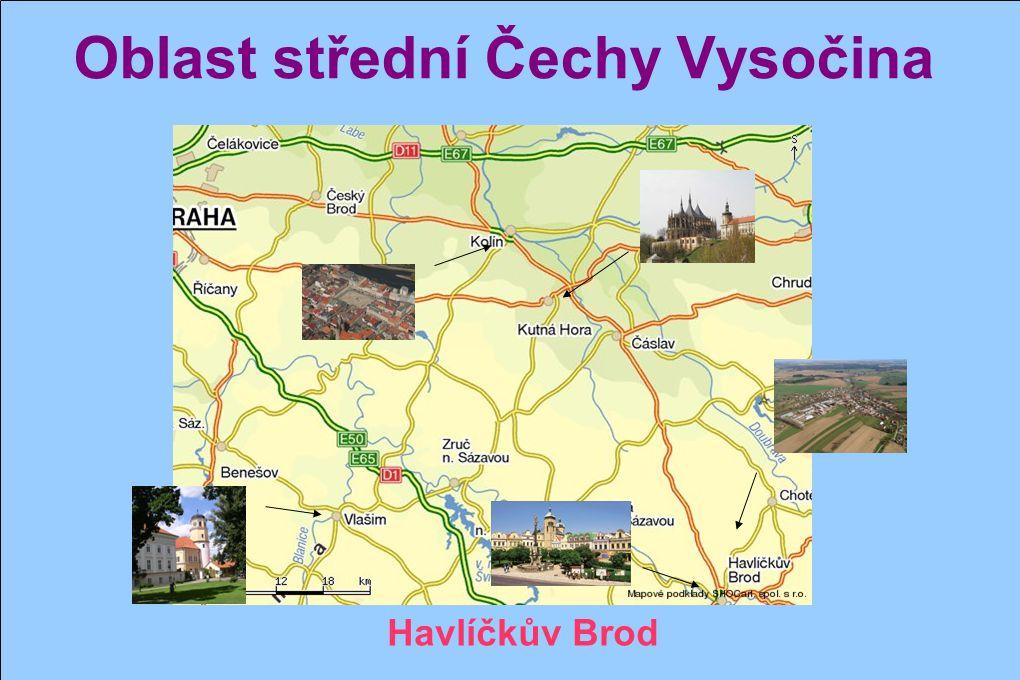 Oblast střední Čechy Vysočina Vlašim