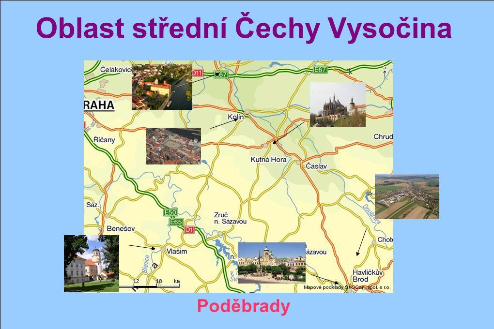 Oblast střední Čechy Vysočina Havlíčkův Brod