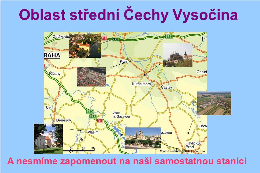 Oblast střední Čechy Vysočina Poděbrady