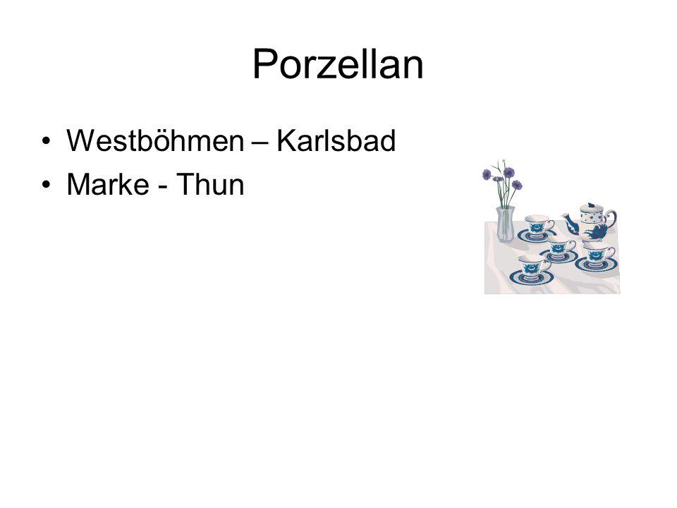 Porzellan Westböhmen – Karlsbad Marke - Thun