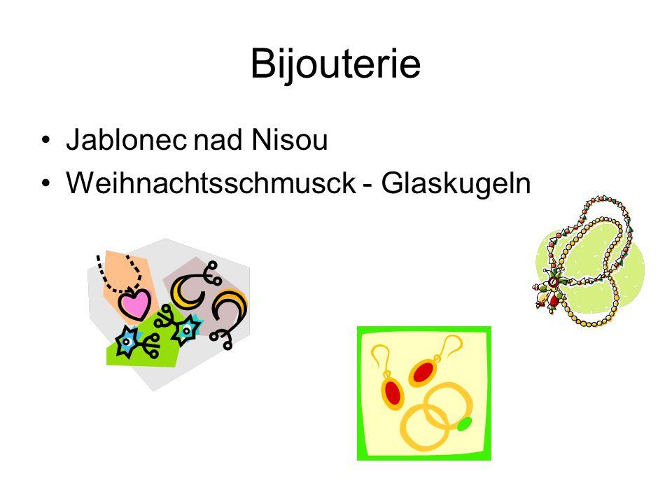 Bijouterie Jablonec nad Nisou Weihnachtsschmusck - Glaskugeln