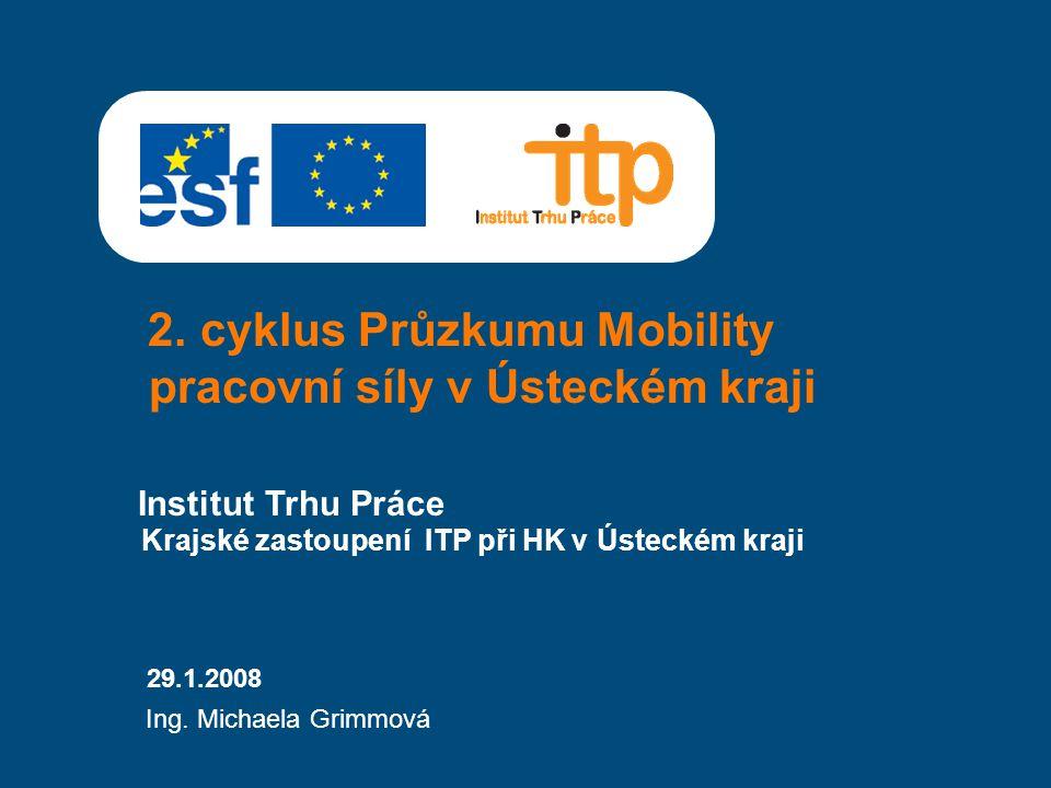 2. cyklus Průzkumu Mobility pracovní síly v Ústeckém kraji Institut Trhu Práce 29.1.2008 Ing.