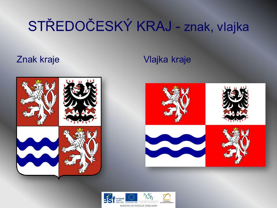 STŘEDOČESKÝ KRAJ - znak, vlajka Znak krajeVlajka kraje
