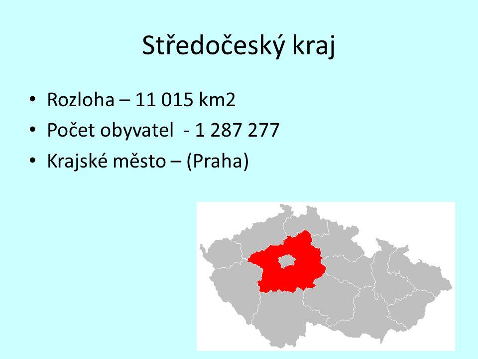 Středočeský kraj Rozloha – 11 015 km2 Počet obyvatel - 1 287 277 Krajské město – (Praha)