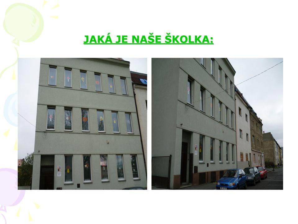 CHARAKTERISTIKA MŠ: Naše mateřská škola se nachází na okraji města Ústí nad Labem v Předlicích. Budova je dvoupatrová, účelová se dvěma třídami a hosp