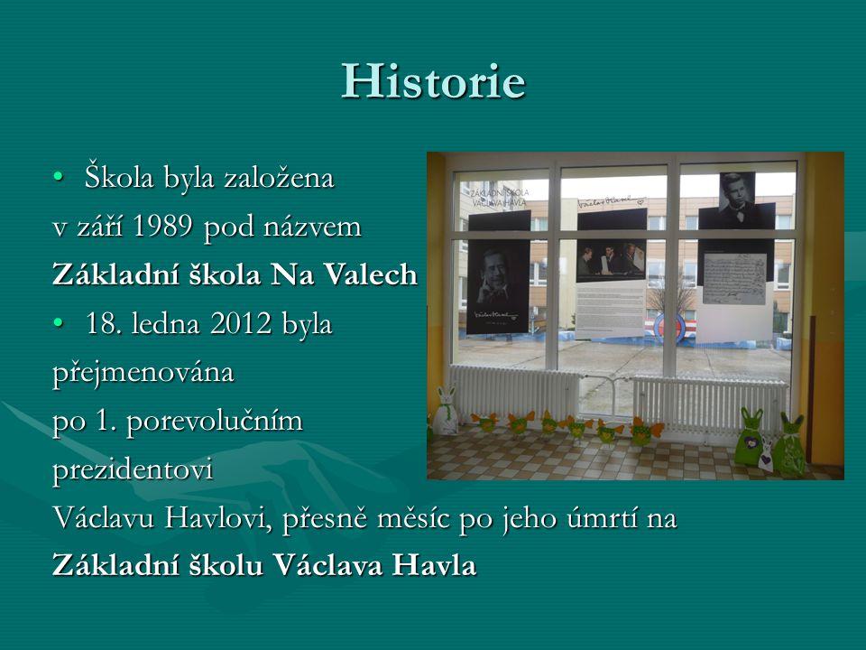 Historie Škola byla založenaŠkola byla založena v září 1989 pod názvem Základní škola Na Valech 18.
