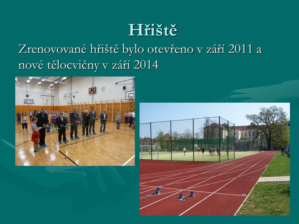 Hřiště Zrenovované hřiště bylo otevřeno v září 2011 a nové tělocvičny v září 2014