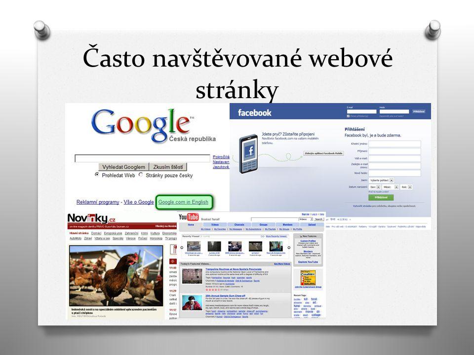 Často navštěvované webové stránky