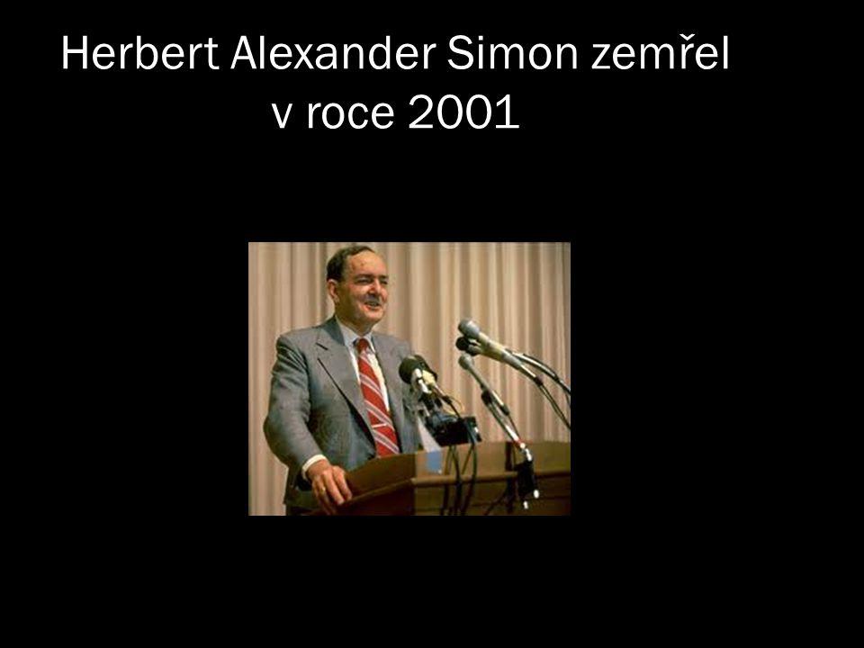 Herbert Alexander Simon zemřel v roce 2001