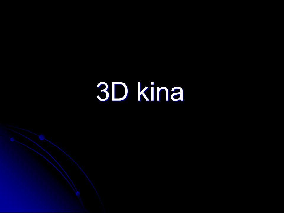 Natáčení pomocí speciální technologie:  Pomocí dvou kamer  Vzdálenost objektivů odpovídá zhruba vzájemné vzdálenosti lidských očí  Scéna je snímána z úhlu, pod kterým ji vidí lidské oči