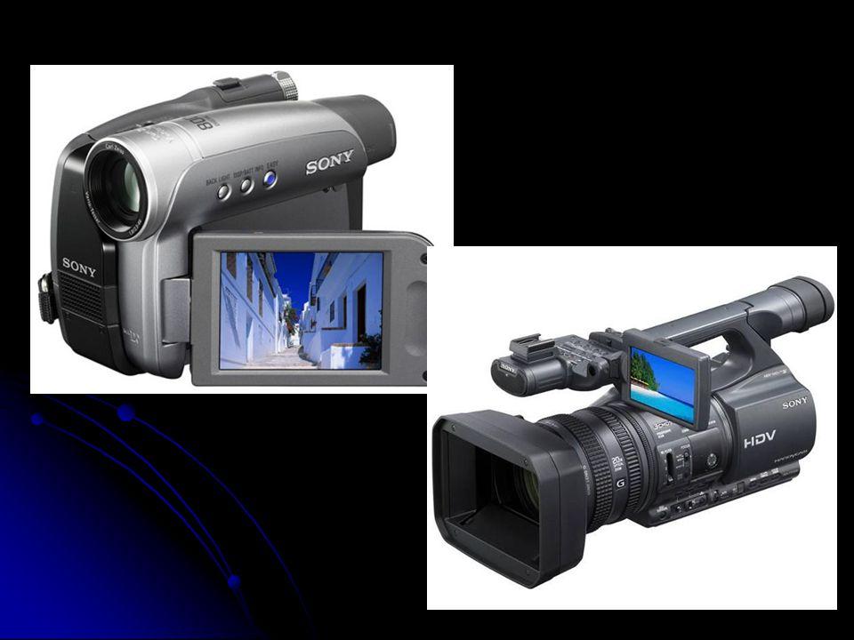 Hlavní součásti videokamery:  Transfokátorová čočka (transfokátor - objektiv s plynule měnitelnou ohniskovou vzdáleností) čočka  Dvoubarevný hranol  Detektorový mikroprocesor - tzv.