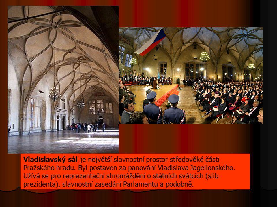 Vladislavský sál je největší slavnostní prostor středověké části Pražského hradu. Byl postaven za panování Vladislava Jagellonského. Užívá se pro repr