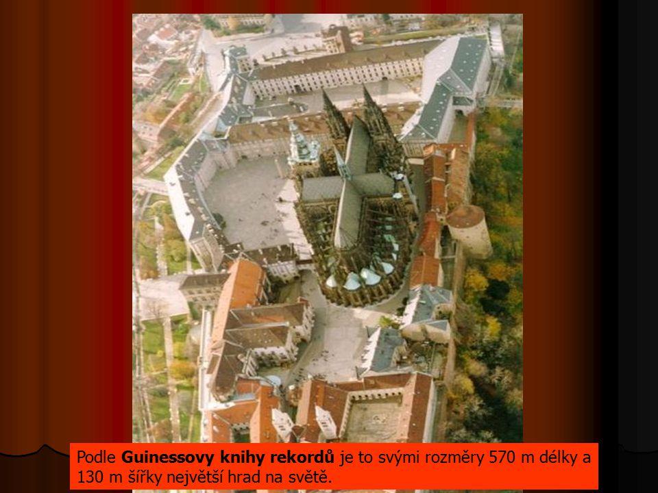 Podle Guinessovy knihy rekordů je to svými rozměry 570 m délky a 130 m šířky největší hrad na světě.