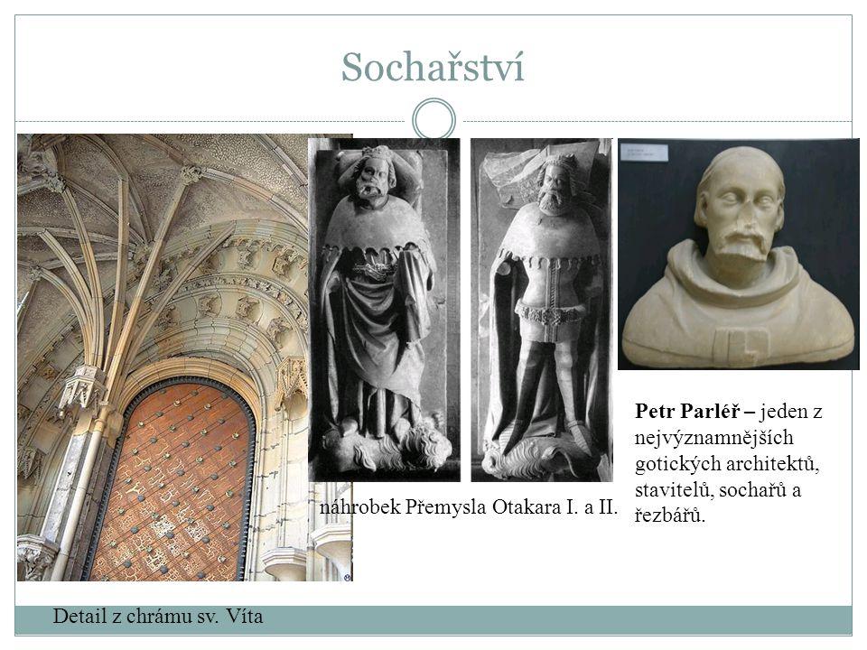 Petr Parléř – jeden z nejvýznamnějších gotických architektů, stavitelů, sochařů a řezbářů. Detail z chrámu sv. Víta náhrobek Přemysla Otakara I. a II.