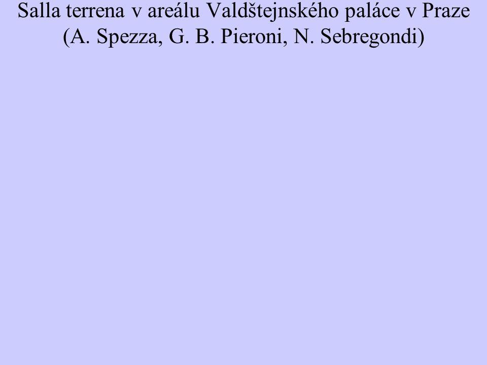 Salla terrena v areálu Valdštejnského paláce v Praze (A. Spezza, G. B. Pieroni, N. Sebregondi)