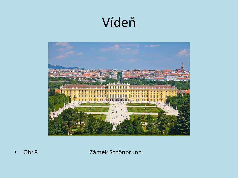 Vídeň Obr.8 Zámek Schönbrunn