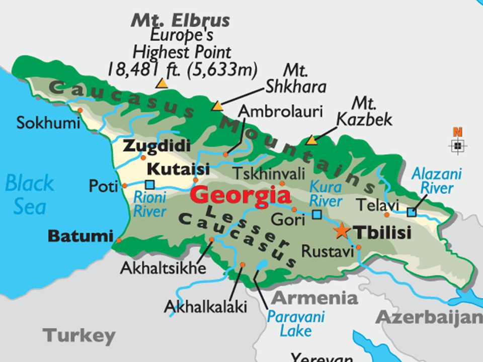 Daktylek Hrad Ananuri u řeky Aragvi, 66 km jižně od Tbilisi