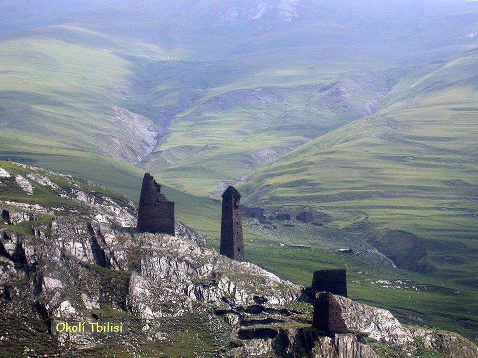 Daktylek Klášter Cminda Sameba u obce Gergeti jižní Gruzie