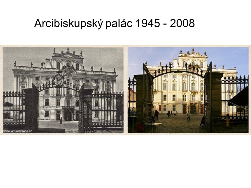 Arcibiskupský palác 1930 - 2007