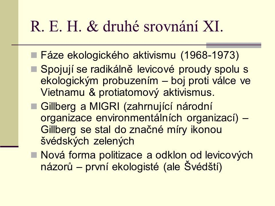 R.E. H. & druhé srovnání XI.