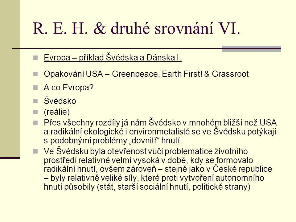 R. E. H. & druhé srovnání VI. Evropa – příklad Švédska a Dánska I.