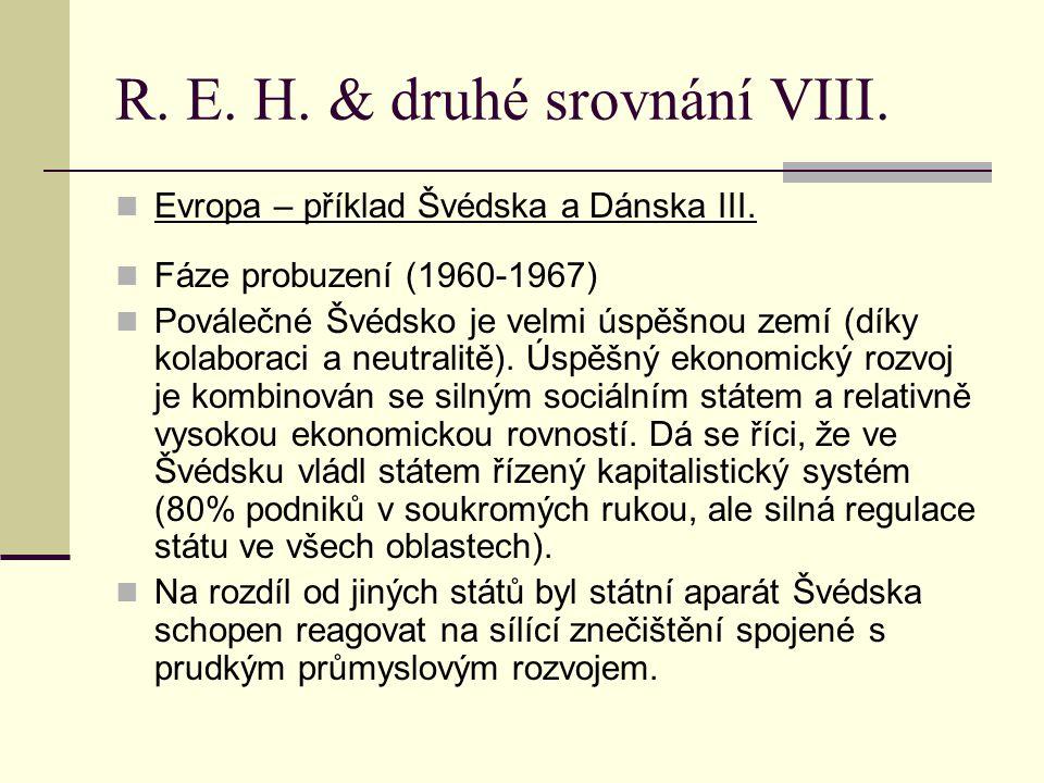 R.E. H. & druhé srovnání IX. Evropa – příklad Švédska a Dánska IV.