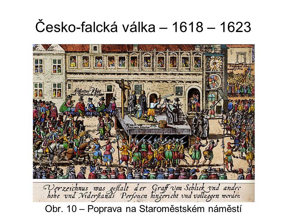 Česko-falcká válka – 1618 – 1623 Obr. 11 – 27 křížů v dlažbě Obr. 12 – Pamětní deska