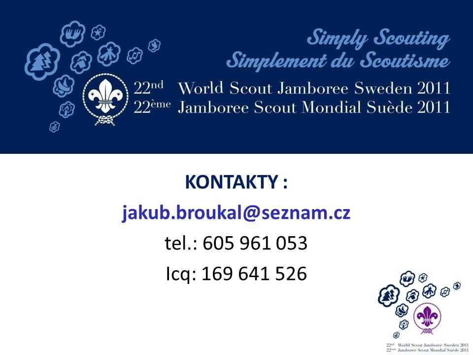 KONTAKTY : jakub.broukal@seznam.cz tel.: 605 961 053 Icq: 169 641 526