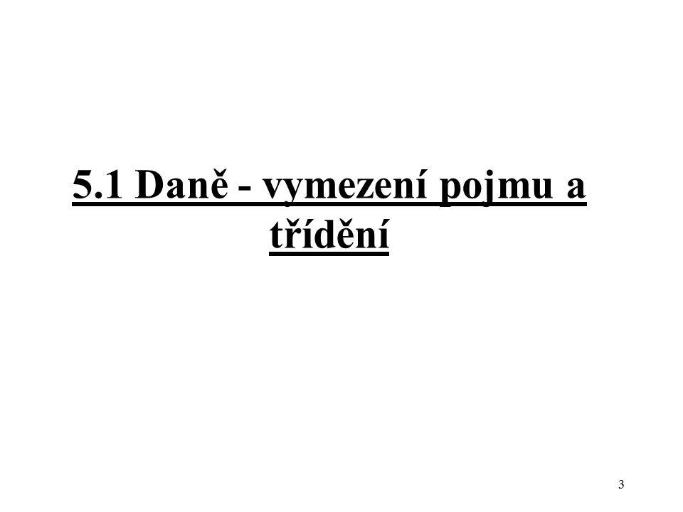 5.1 Daně - vymezení pojmu a třídění 3